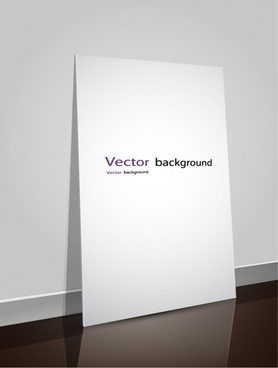 advertising banner template shiny modern 3d wall board