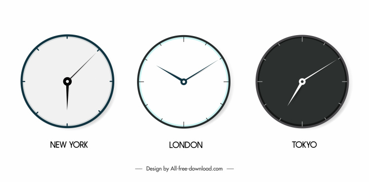 wall clock icons circle design elegant modern decor