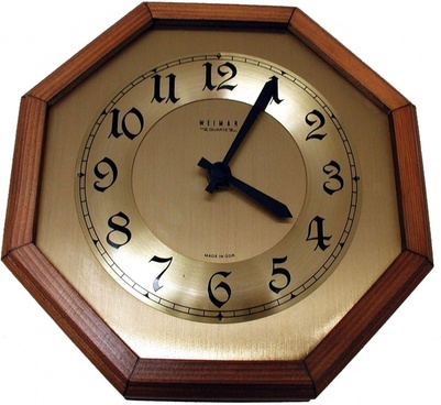 wall clock time of clock