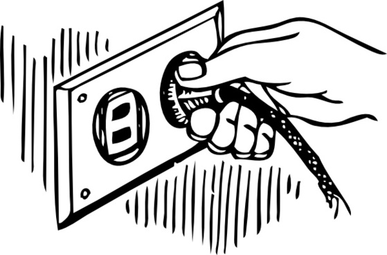 Wall Plug clip art