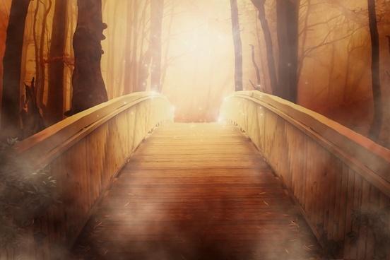 wallpaper wood bridge