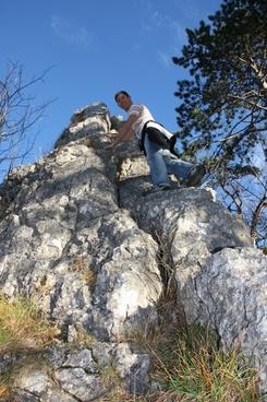wanderer climb rock climbers