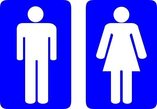 Wariat Toilet Signs clip art