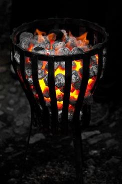 warm fire outside