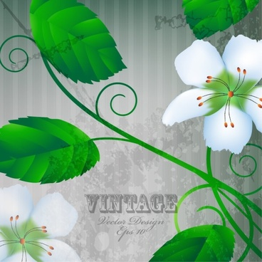 warm flowers background 05 vector