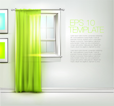 warm windows design vector art