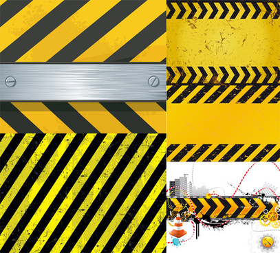 warning band pattern background vector