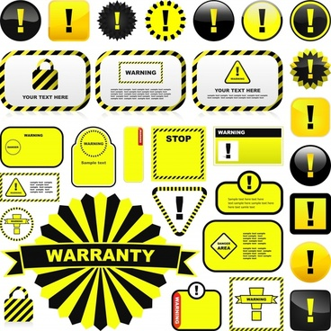 warning signs and labels vector