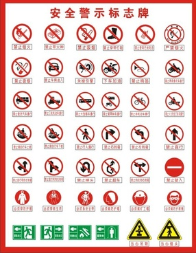 Safety Signs Free Vector Download 8 308 Free Vector For Commercial Use Format Ai Eps Cdr Svg Vector Illustration Graphic Art Design