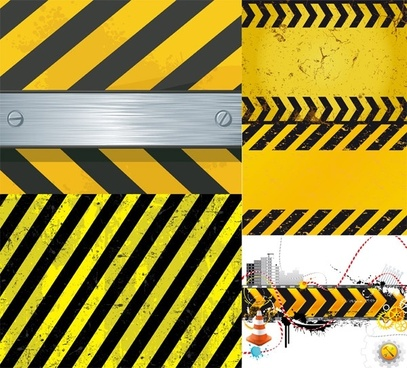 warning with a pattern vector