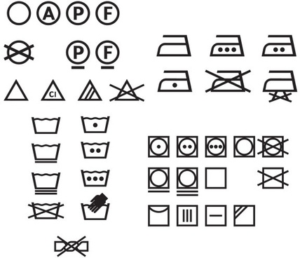 Washing Care Symbols Vector Free Vector Download 22288 Free Vector