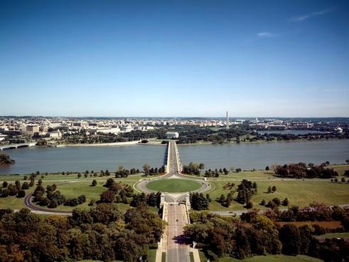 washington dc memorial bridge potomac river