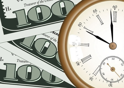 time value background clock cash sketch modern flat
