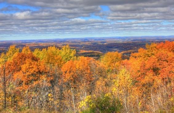watchtower overlook in blue mound state park wisconsin