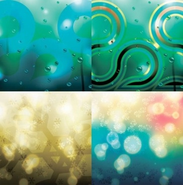 water drop with snow blurs background vector