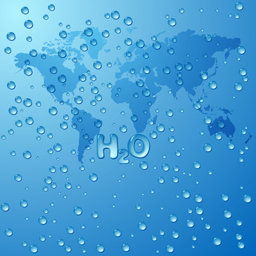 water drops and world map vecror background