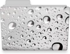 Water drops folder
