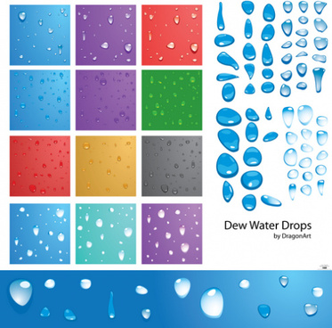 water drops vector background