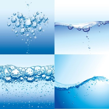 water drops with water vector background