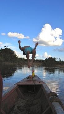 water jump dive