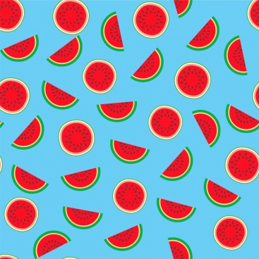 water melon background bright colored repeating design