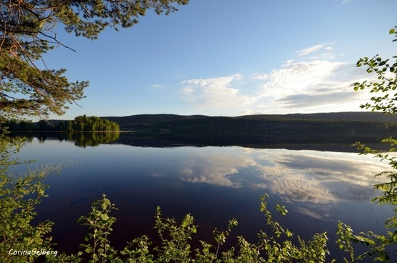 water mirroring lake
