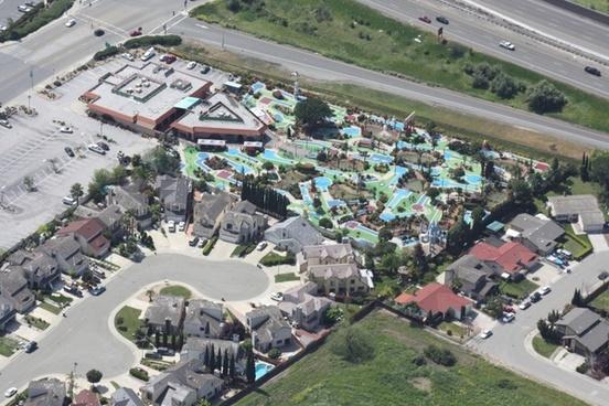 water park water slide slide
