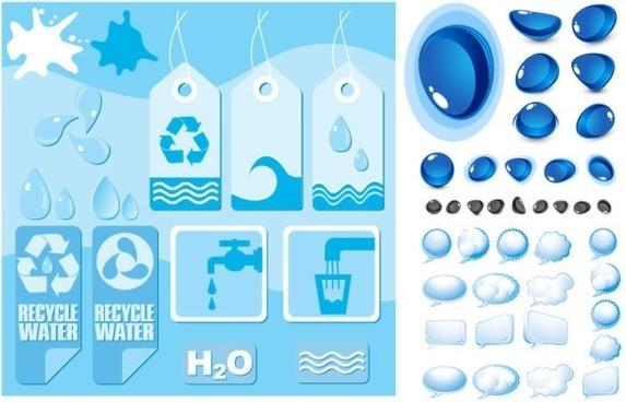 water theme vector