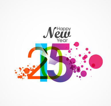 watercolor15 happy new year vector