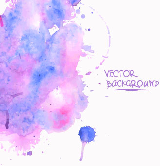 watercolor art background vector