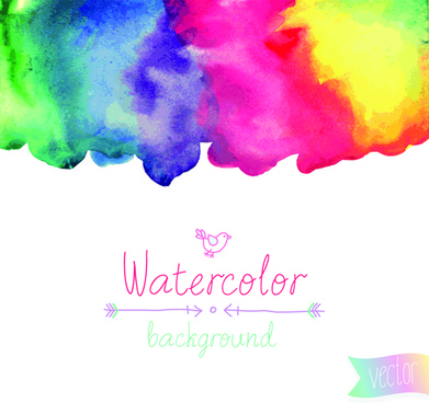 watercolor elements vector background