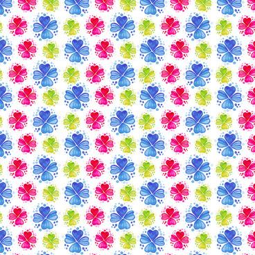 watercolor fashion flower pattern