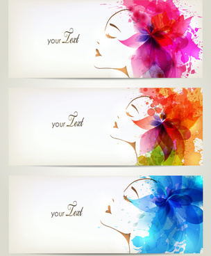 watercolor floral woman creative design