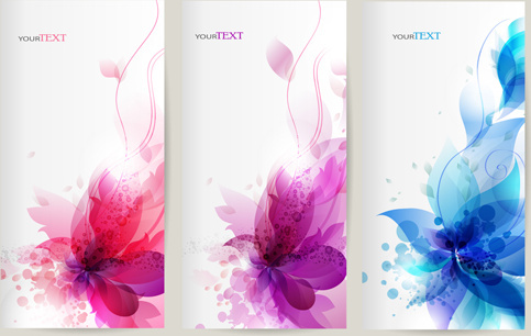 watercolor flower vertical banner design