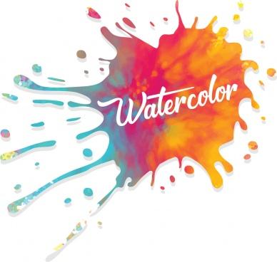 watercolor ink splatter