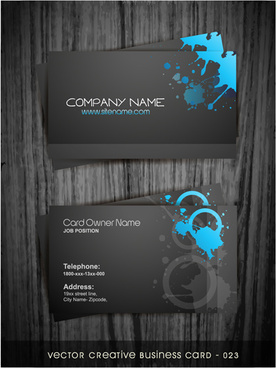 watercolor splash business cards vector graphic