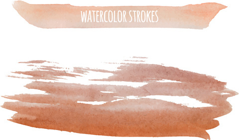 watercolor strokes vector brushes set