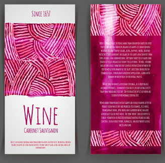 watercolor wine stickers creative vector