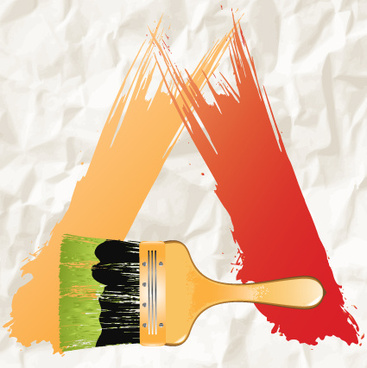 watercolor with crumpled paper design vector