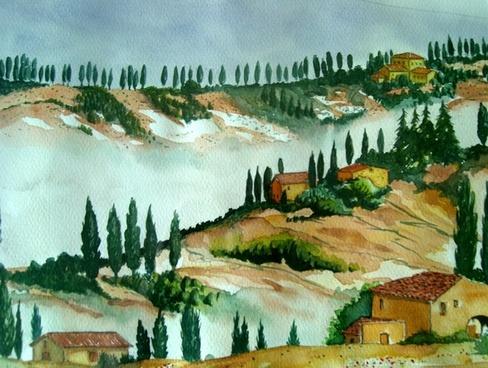 watercolour painting art