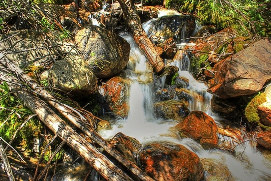 waterfall by the roadside in colorado