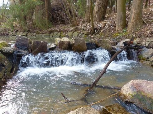 waterfall dam water