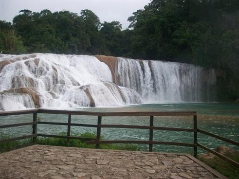 waterfall falls water