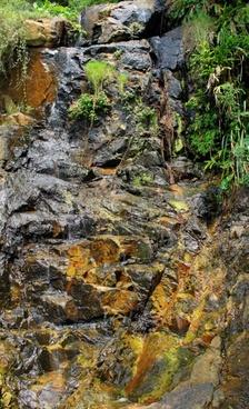 waterfall in hong kong china