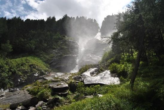 waterfall landscape waterfalls