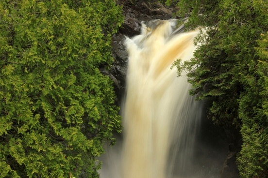 waterfall on the river at cascade river state park minnesota