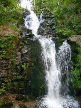 waterfall rock water