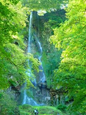 waterfall urach waterfall water