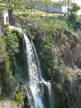 waterfall water cliffs