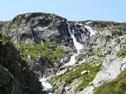 waterfall water rock